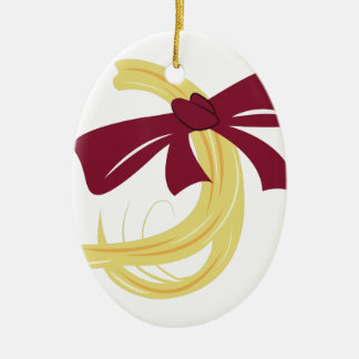 Babys First Haircut Ceramic Oval Ornament
