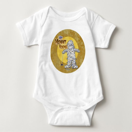Babys First Halloween - My Mummy Rocks Baby Bodysuit