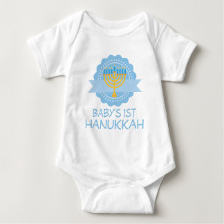 Babys First Hanukkah Festival Of Lights Menorah Baby Bodysuit