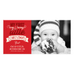 Baby's First Merry Little Christmas Photo Greeting Picture Card