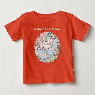 Baby's First Summer T-Shirt, Customizable Baby T-Shirt
