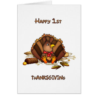 Baby's First Thanksgiving Greeting Card