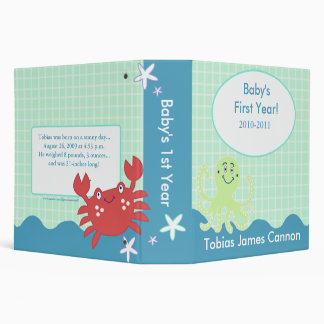 Baby's First Year Photo Album Under the Sea theme Vinyl Binder