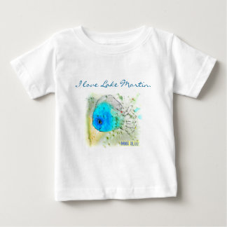 "Baby's Fish T-Shirt ""I love Lake Martin."""