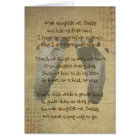 Baby's Footprints for Daddy's Birthday Card