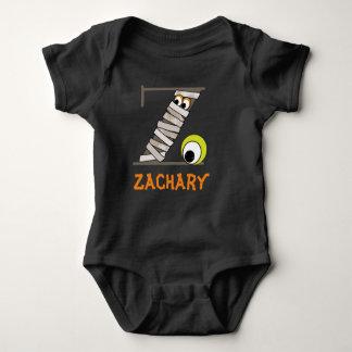 Baby's Monster Black Bodysuit w Mummy Initial Z