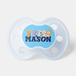 Baby's Name Pacifier with Animals