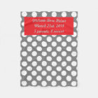 Baby's Personalized Polka Dots Fleece Blanket