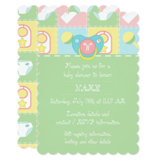 Baby's Quilt Baby Shower Invitation