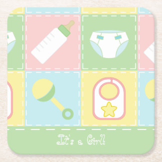 Baby's Quilt Baby Shower Paper Coasters