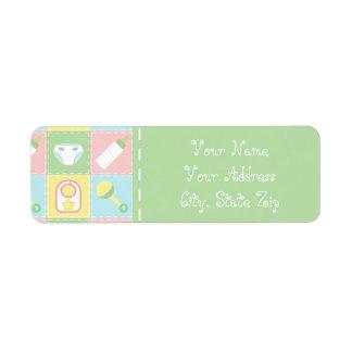 Baby's Quilt Return Address Label