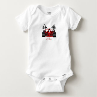 Baby's Race Car Checkered Flag Baby Onesie