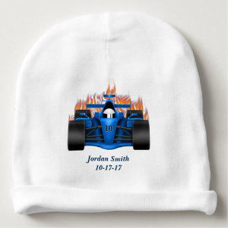 Baby's Race Car Flames Baby Beanie
