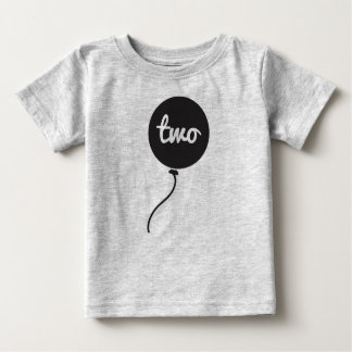 Baby's Second Birthday Shirt | Gray