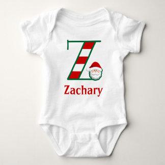 Baby's Striped Santa Christmas Bodysuit monogram z