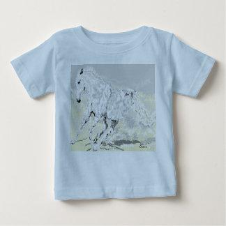 Baby's T-Shirt White Stallion
