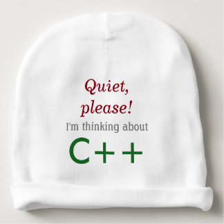 Baby's Thinking About C++ Baby Beanie