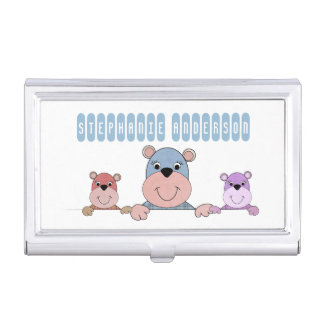 Babysitter and the Three Teddy Bears Business Card Case