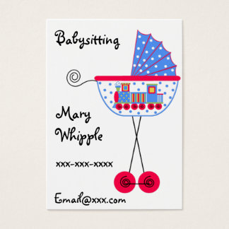 Babysitter Babybuggy Designs Business Card