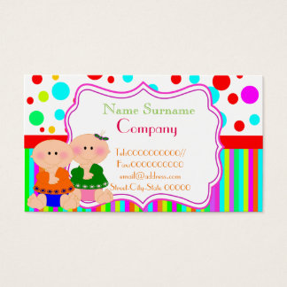 babysitter,babysitting, nursery school .... business card