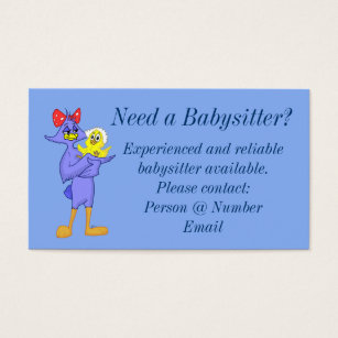 Babysitting business cards business card printing zazzle ca babysitter business card colourmoves