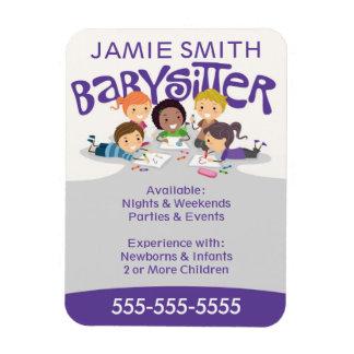 Babysitter Business Card Magnet