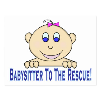 Babysitter To The Rescue Postcard
