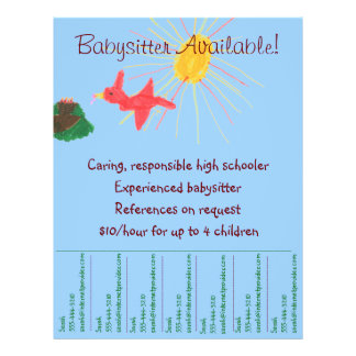 Babysitting Flyer - Sunshine Scene