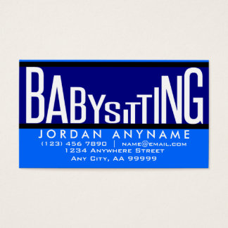 Babysitting Funky Text Business Card