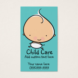 Babysitting or Child care custom business card