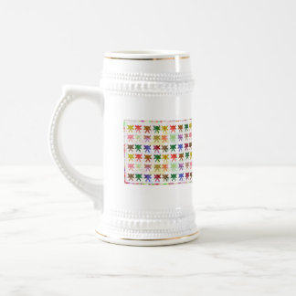 Babysoft Butterfly Patterns for Adults 18 Oz Beer Stein