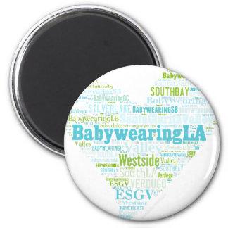 BabywearingLA Heart Logo 2 Inch Round Magnet