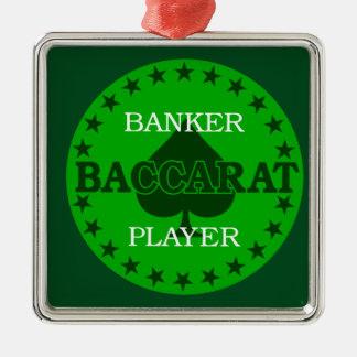 Baccarat 1 metal ornament
