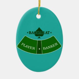 Baccarat 2 ceramic ornament