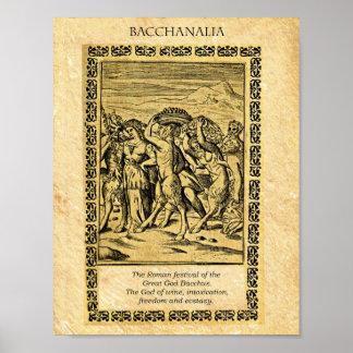 BACCHANALIA, God Bacchus Poster