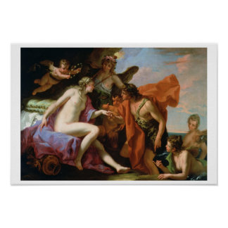 Bacchus and Ariadne (oil on canvas) Poster