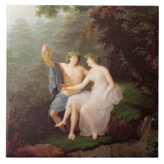 Bacchus and Ariadne Tile
