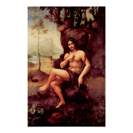 Bacchus by Leonardo da Vinci Poster