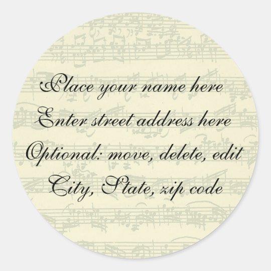 Bach Address Label