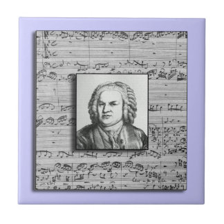 Bach Baroque Music Ceramic Tile
