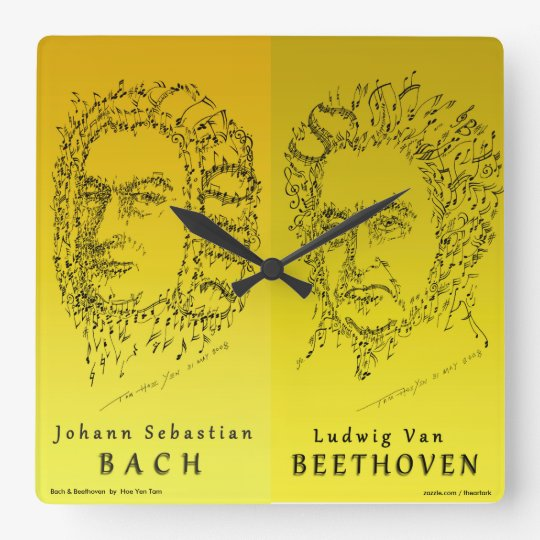 Bach & Beethoven: Face the Music Wall Clock