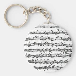 Bach Cello Suite Basic Round Button Keychain