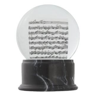 Bach Cello Suite Music Manuscript Snow Globe
