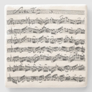 Bach Cello Suite Music Manuscript Stone Coaster