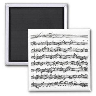 Bach Cello Suite Square Magnet