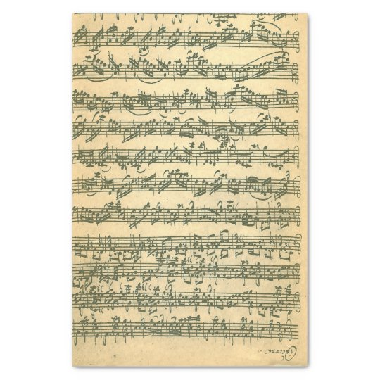 Bach Chaconne Manuscript for Violin Solo Tissue Paper