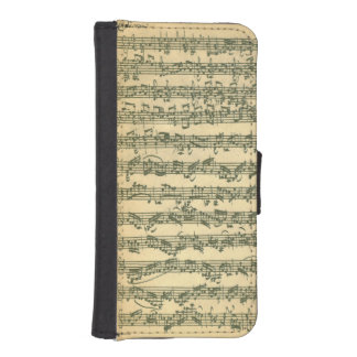 Bach Chaconne Manuscript iPhone SE/5/5s Wallet Case