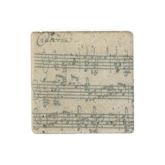 Bach Chaconne Original Handwritten Excerpt Stone Magnets
