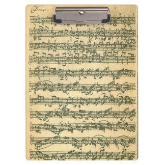 Bach Chaconne Violin Music Manuscript Clipboard