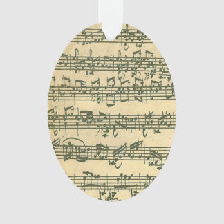 Bach Chaconne Violin Music Manuscript Ornament